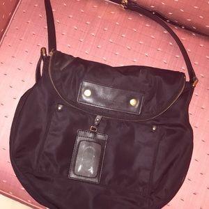 Black preppy nylon Natasha Crossbody/shoulder bag